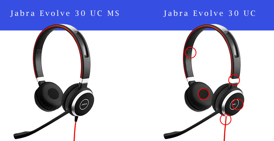 Skype for Business och Lync headset, Jabra Evolve 30
