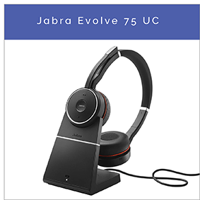 Jabra Evolve 75 UC Bluetooth headset med Active Noise Cancelling till PC och mobil