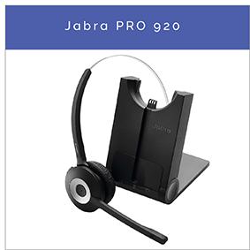 Jabra PRO 920 trådlöst DECT mono headset till fast telefon
