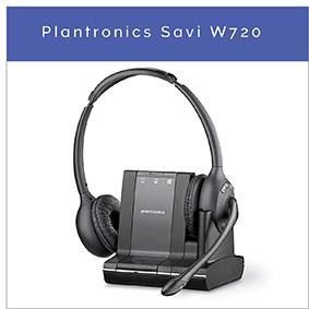 Plantronics Savi W720 trådlöst DECT kontorsheadset till PC, mobil och fast telefon