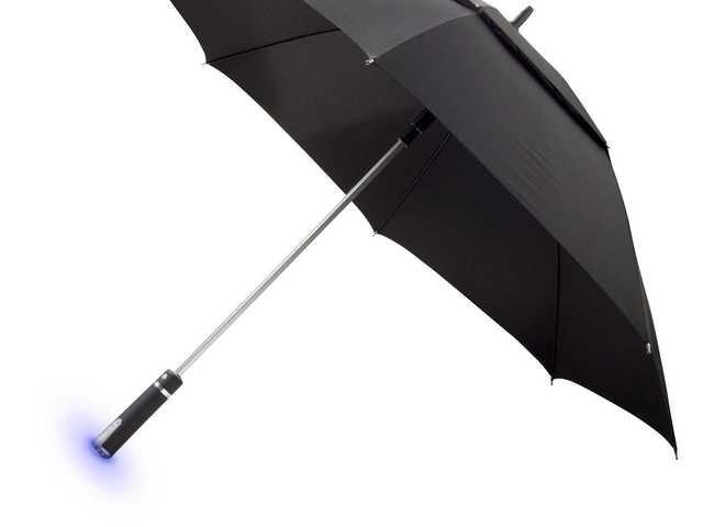 Paraply med aktuell väderprognos