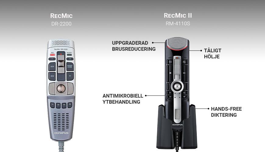 Olympus RecMic DR-2200 och RM 4110S