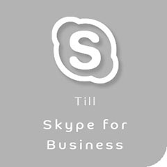 Vidoekonferens till Skype for Business